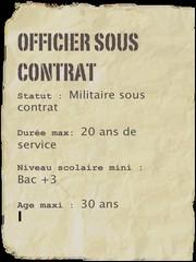 CDD et contrat de carrière dans les armées